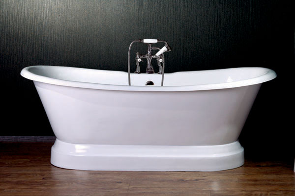 Canyon Bath clawfoot double slipper tubs with Pedestal